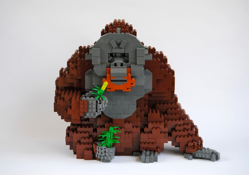 esculturas realizadas en LEGO's