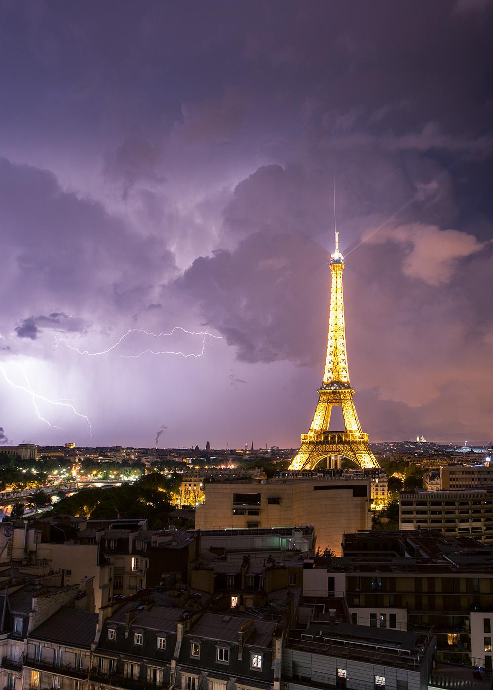 Fotografías tormenta eléctrica en parís