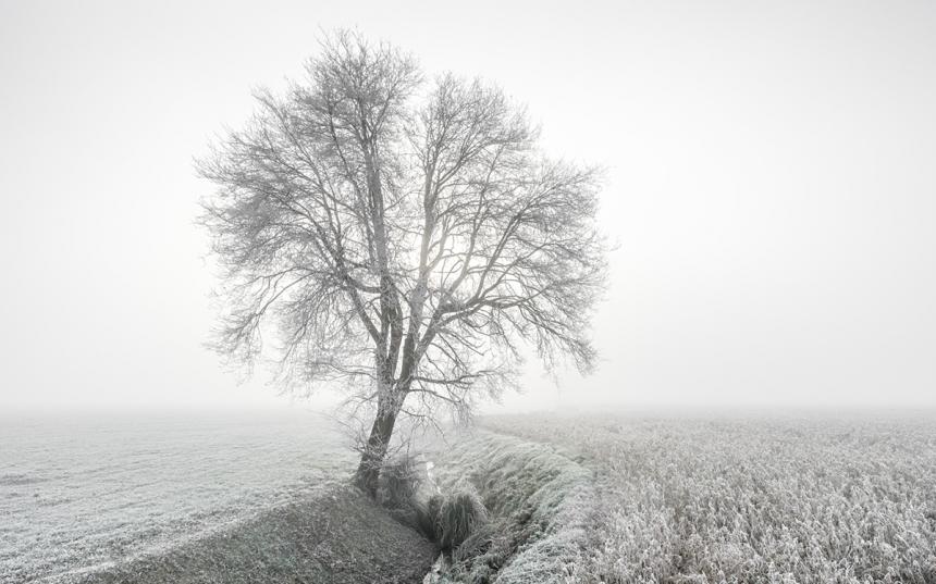 imágenes de una mañana de invierno en Italia