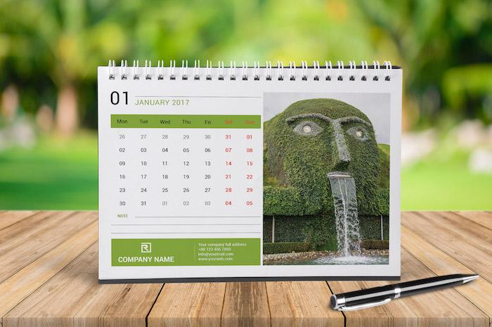 Plantillas para calendarios 2017 gratis (Id, Ai, Ps) - Frogx Three