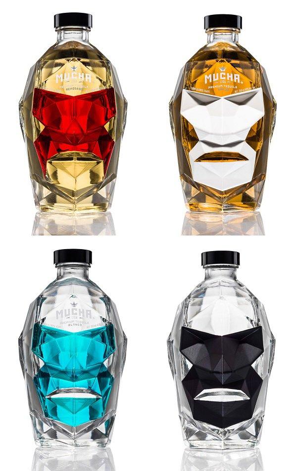 Diseños de botellas inspiradas en luchadores