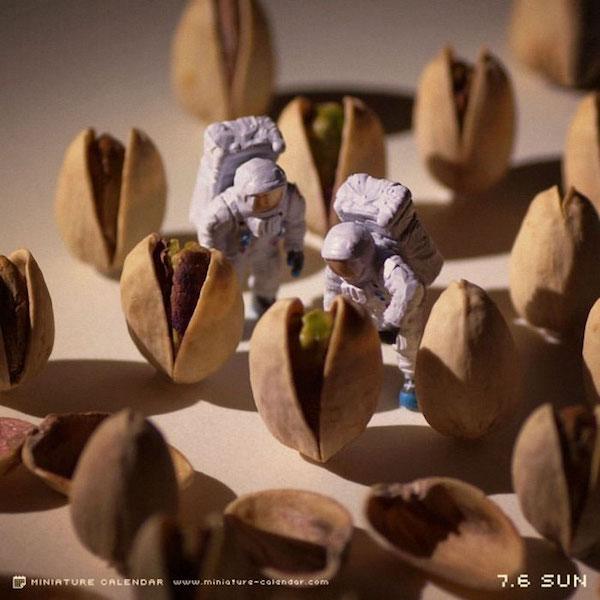Dioramas creados con figuras miniaturas por Tanaka tatsuya