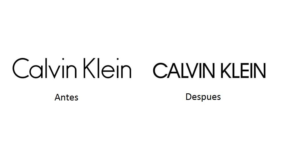 Calvin Klein presenta su nuevo logotipo
