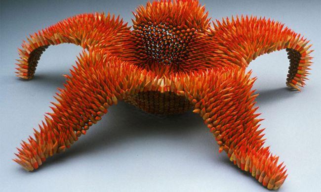 esculturas realizadas con lapices