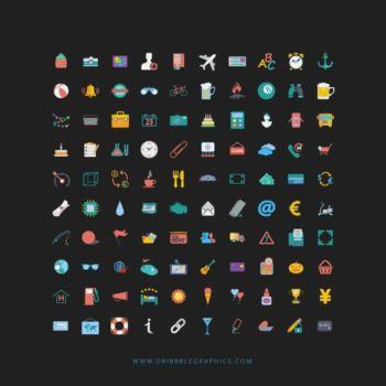 100 Iconos temáticos para paginas web gratis