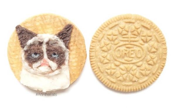Obras de arte comestibles realizadas en galletas oreo