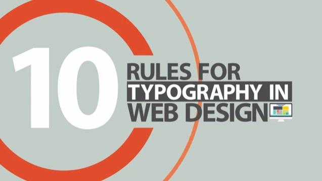 reglas de la tipografía