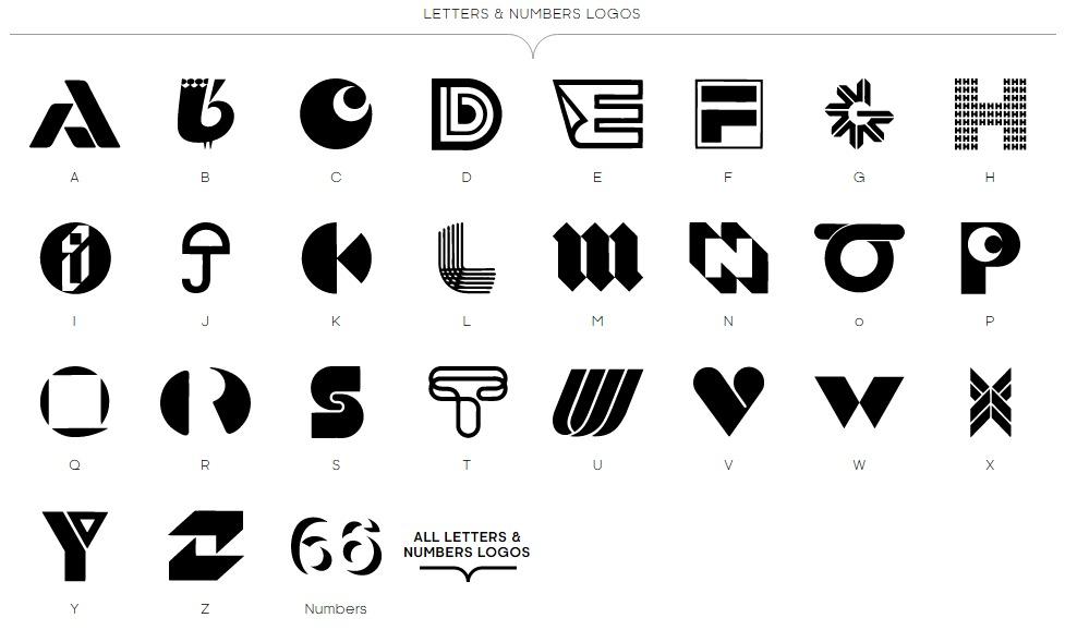 Ejemplos s mbolos tipogr ficos lacomunicacion for Logos con letras
