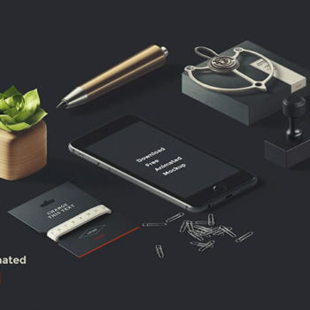 Mockup Photoshop animado de iPhone gratis