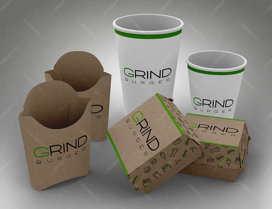 Mockups PSD para productos de comida rápida