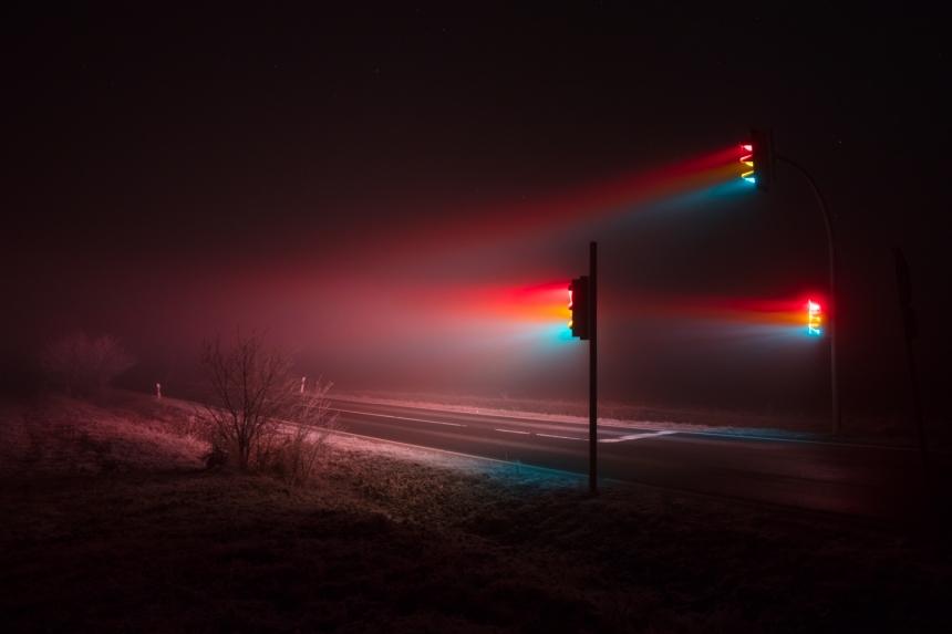 serie fotográfica de luces de semáforos