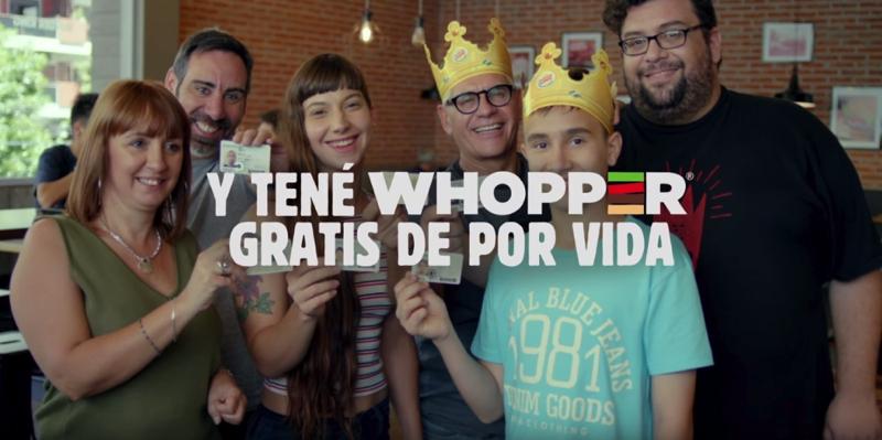Burger King regala Whoppers de por vida