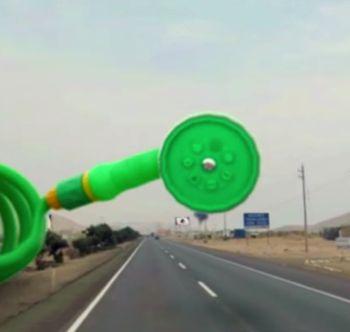 Genial campaña de realidad virtual implementada en un carretera en Perú