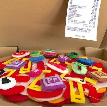 Mira el creativo curriculum en forma de pizza de un diseñador, simplemente genial
