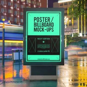 Mockups gratis para presentar publicidad exterior