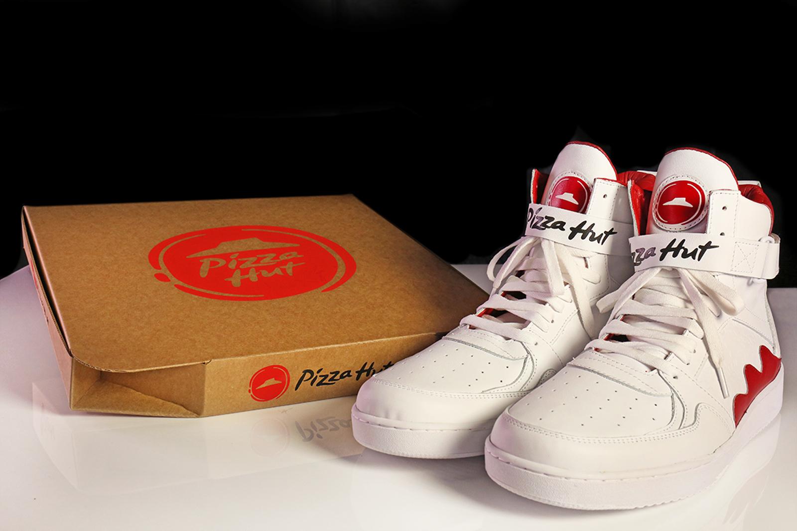 zapatos para pedir pizza de pizza hut