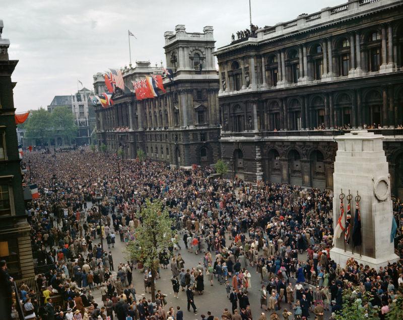 Día de la victoria en el Cenotafio de Whitehall