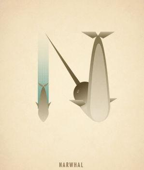 Ilustraciones tipograficas inspiradas en el reino animal (14)