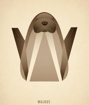 Ilustraciones tipograficas inspiradas en el reino animal (24)
