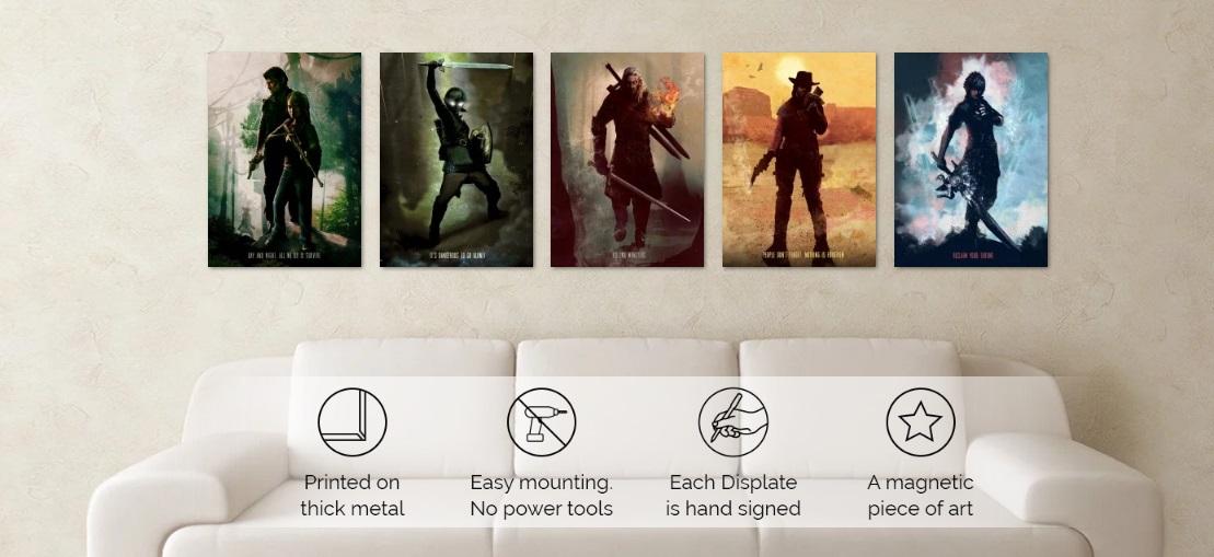 Pósters metálicos ideales para gamers y creativos