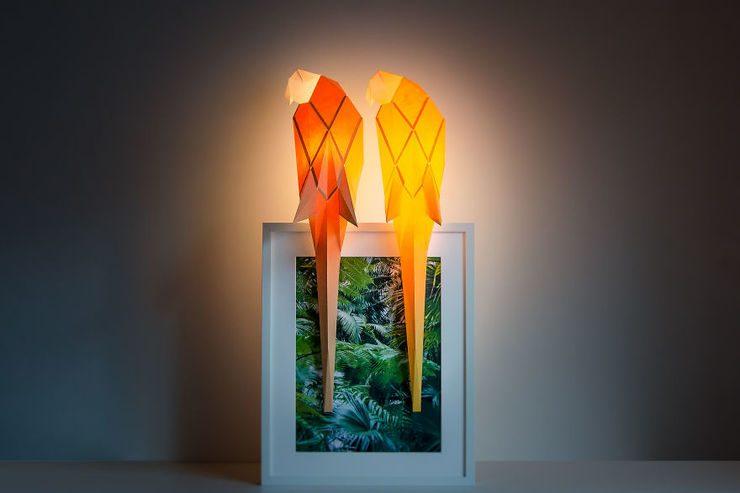 Diseños de lámparas origami inspiradas en animales