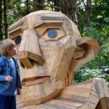Forgotten Giants, una impresionante serie artística escondida en el bosque (2)