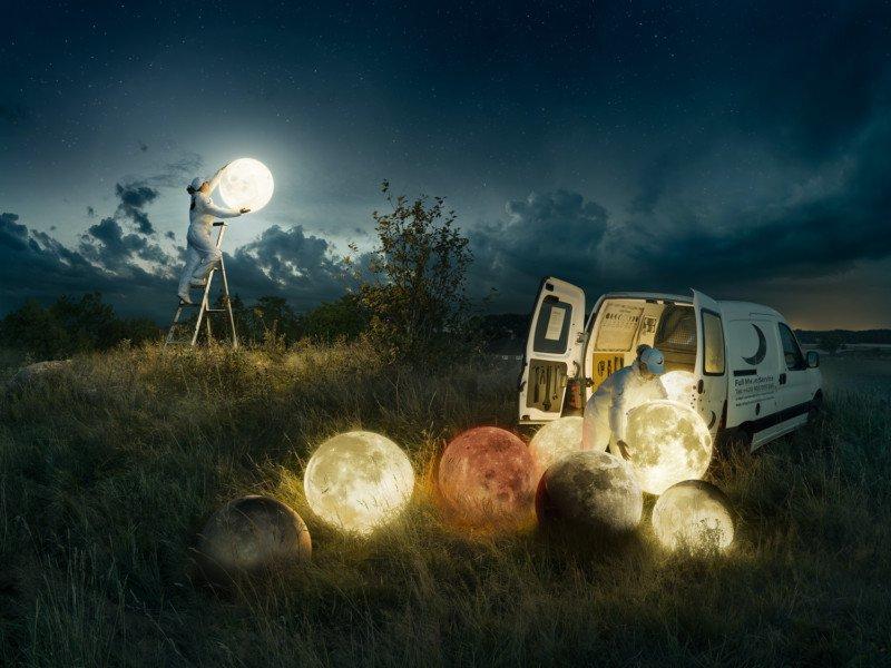 Imágenes conceptuales de la luna por Erik Johansson