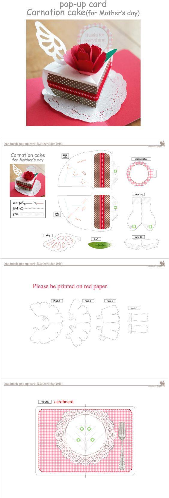 diseños de tarjetas Pop-up para el día de las madres