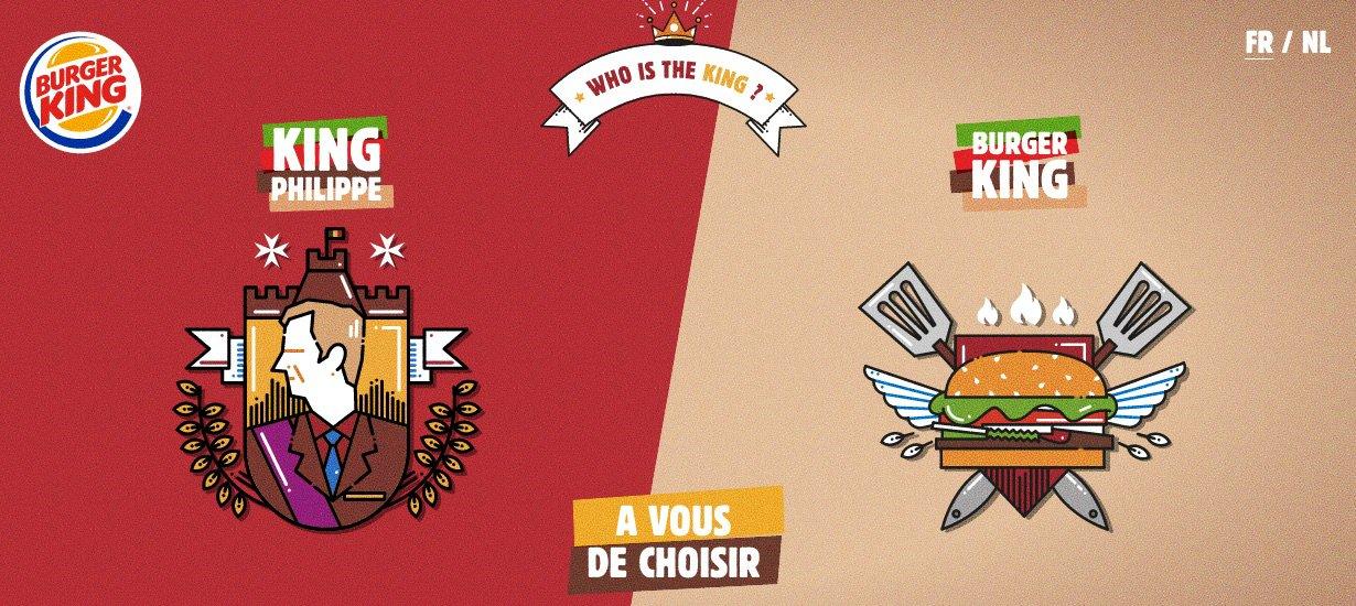campaña de Burger King que ofendió al rey de Bélgica