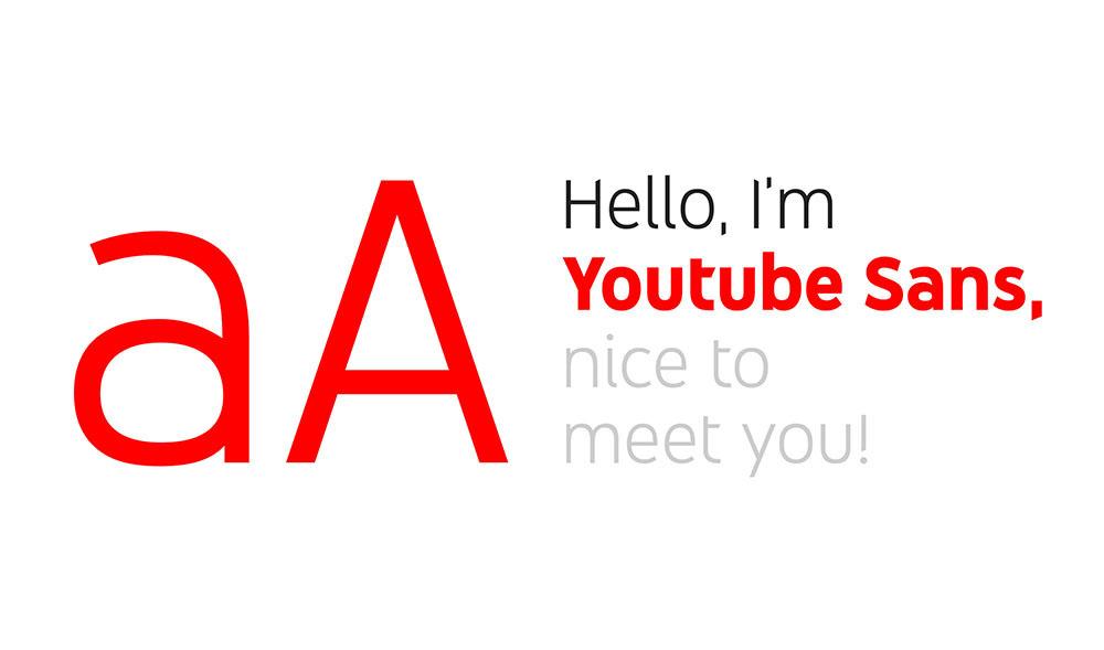 tipografía oficial de la marca YouTube