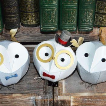esculturas de papel inspiradas en aves por Kate Kelly (1)