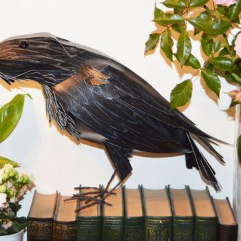 esculturas de papel inspiradas en aves por Kate Kelly (2)