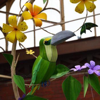 esculturas de papel inspiradas en aves por Kate Kelly (3)