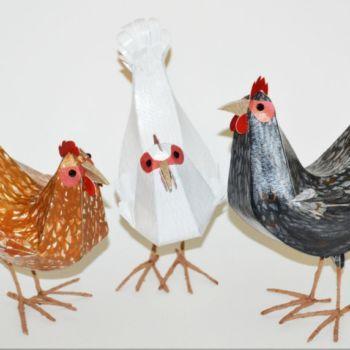 esculturas de papel inspiradas en aves por Kate Kelly (6)