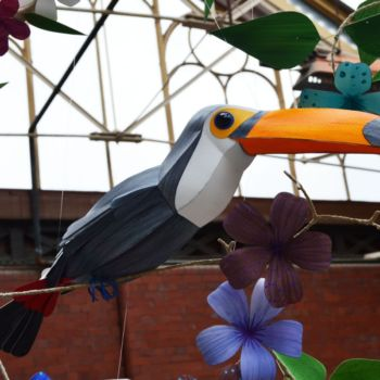 esculturas de papel inspiradas en aves por Kate Kelly (7)