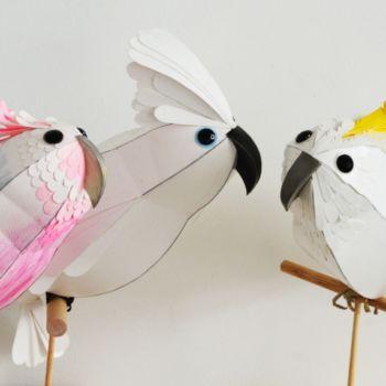 esculturas de papel inspiradas en aves por Kate Kelly (8)