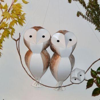 esculturas de papel inspiradas en aves por Kate Kelly (9)