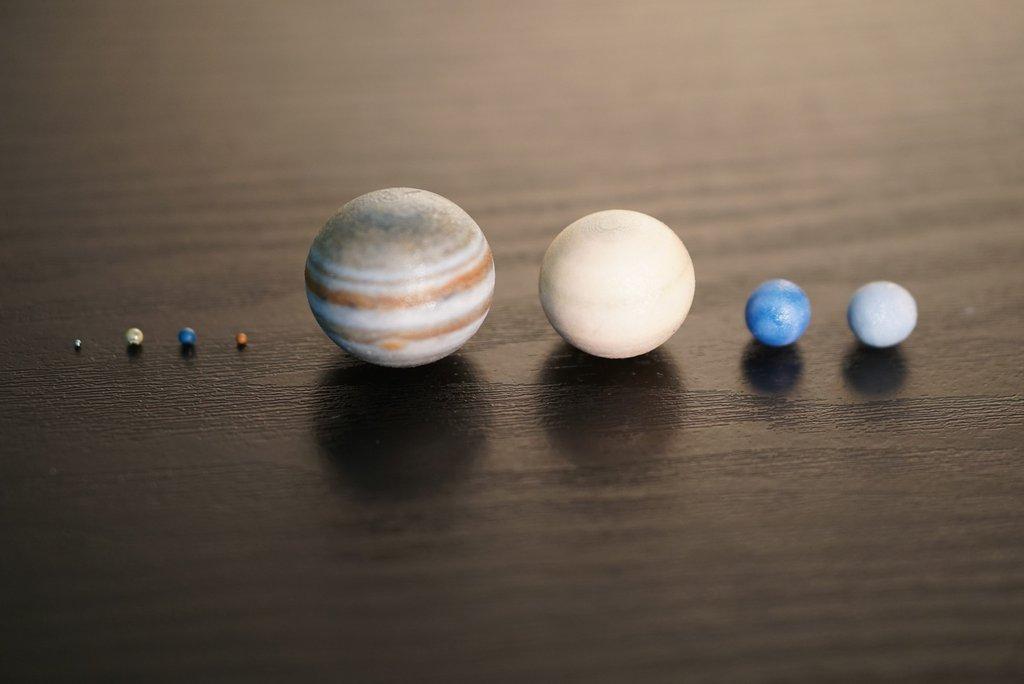 Impresiones 3D de los planetas de nuestro sistema solar