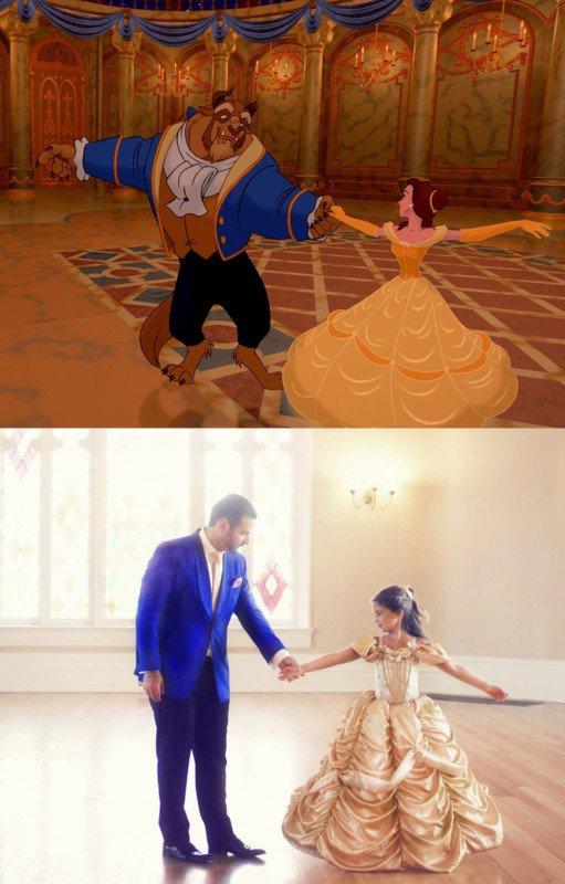 Serie fotográfica que recrea escenas de Disney