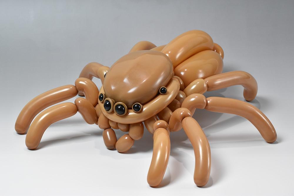 Esculturas con globos inspiradas en animales