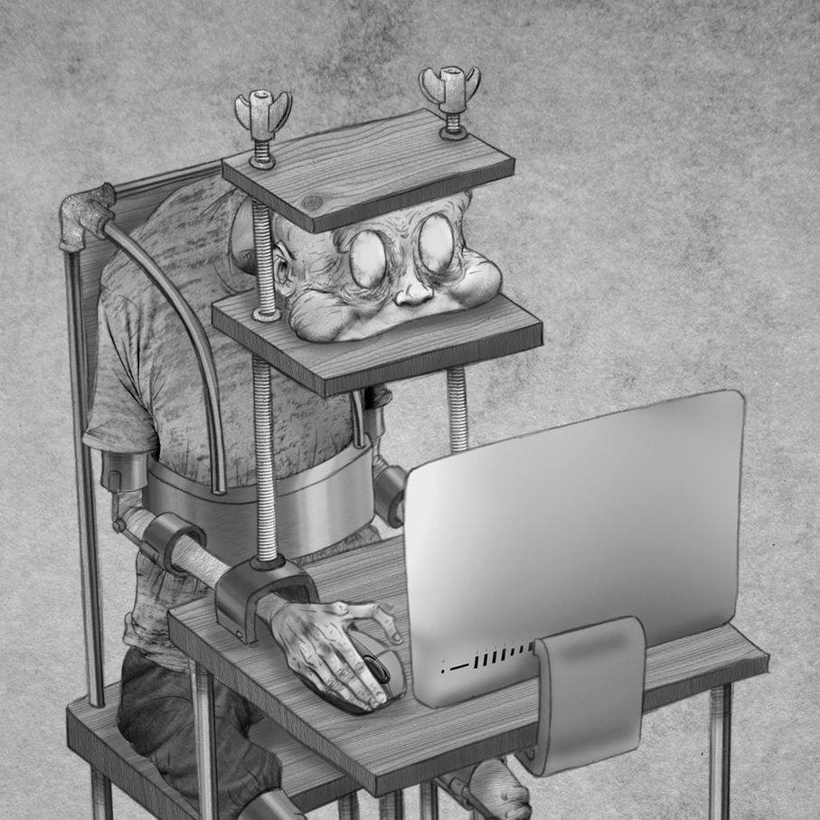 Ilustraciones para reflexionar sobre los problemas de la sociedad