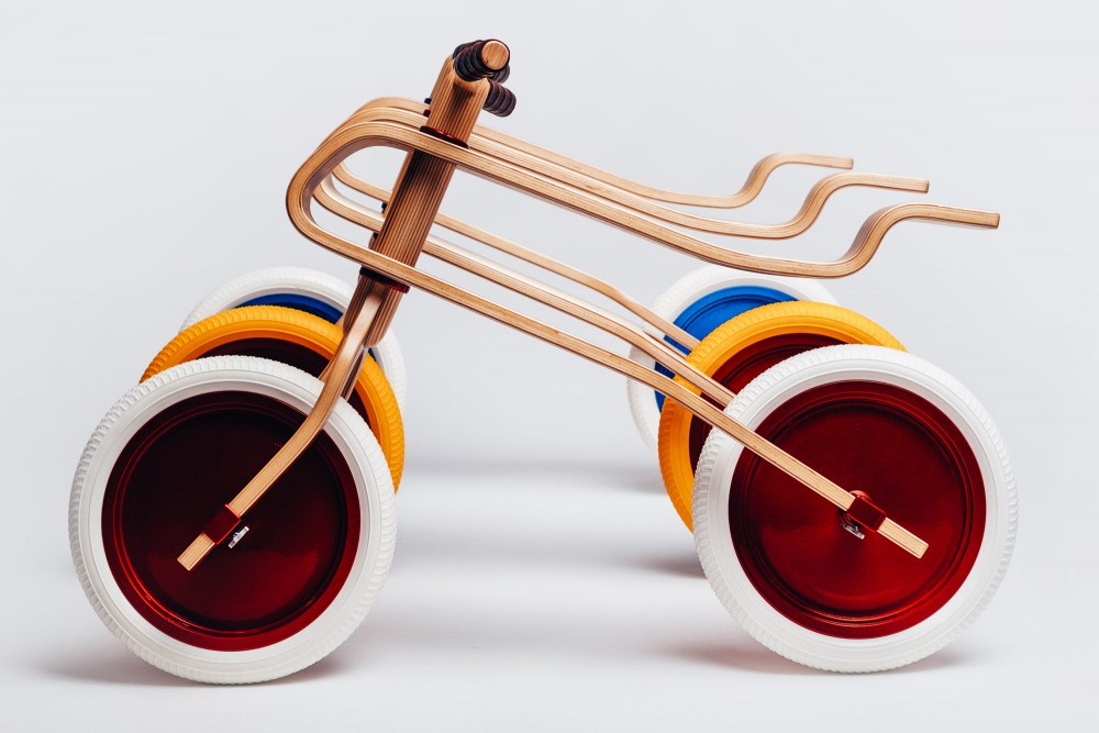 diseño ecológico de bicicleta para niños