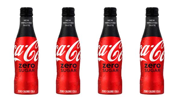 nuevo diseño de packaging para Coca-Cola Zero