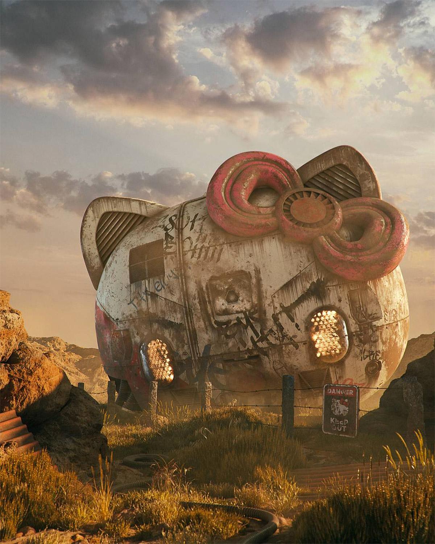 Ilustraciones 3D inspiradas en la cultura pop