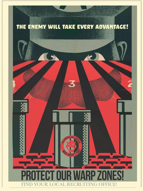 Afiches publicitarios inspirados en juegos por Fernando Reza