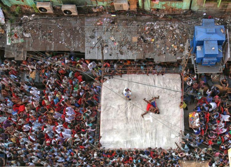 Street Wrestling por Retam Kumar, India.