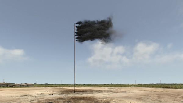 Bandera hecha humo