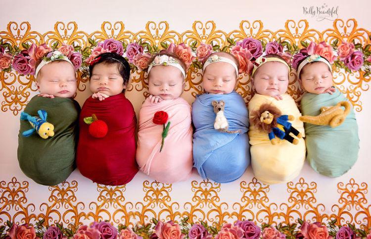 Fotografías de bebés como princesas de Disney