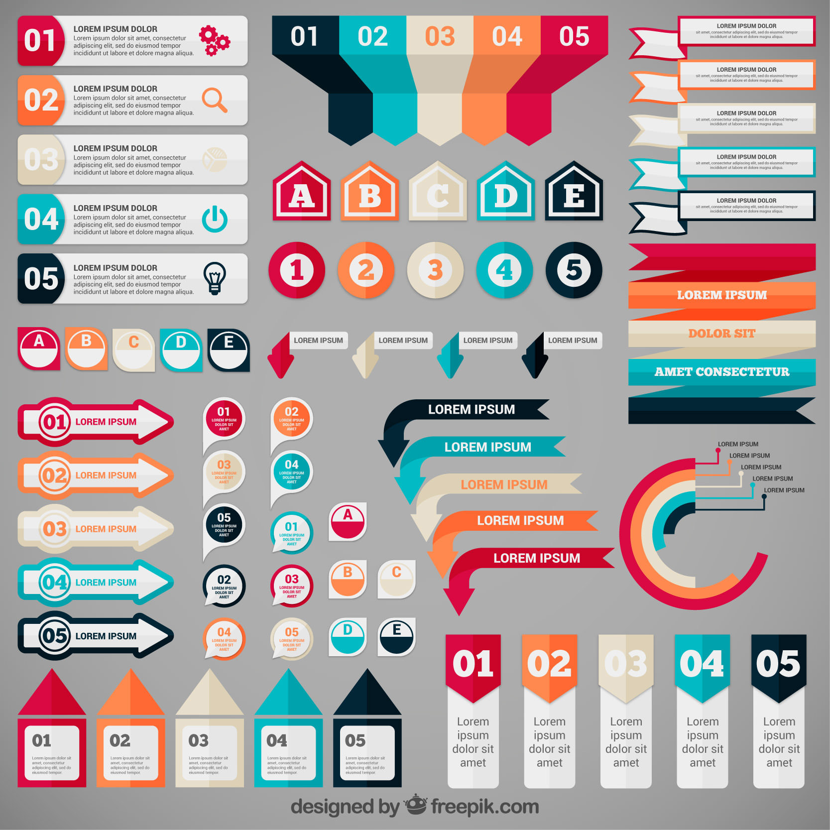 Vectores para crear infografías