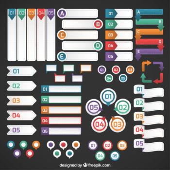 Paquetes de vectores para crear infografías gratis